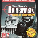 Rainbow Six Gold Prima's Official Strategy Guide video game book for gamers covers Eagle Watch book