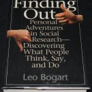 FINDING OUT SOCIAL RESEARCH BOOK LEO BOGART HARDCOVER