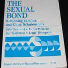 THE SEXUAL BOND book Rethinking Families and Close Relationships paperback  family relationship book