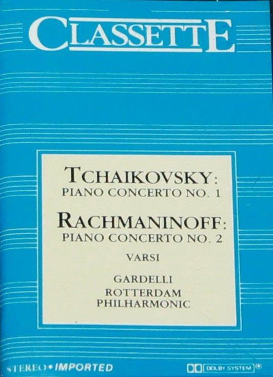 Tchaikovsky Piano Concerto No. 1  Rachmaninoff Piano Concerto 2 - classical music cassette tape