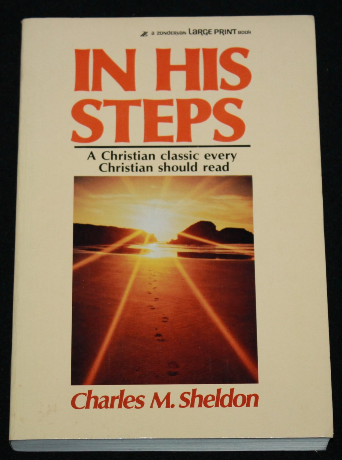 In His Steps by Charles M. Sheldon religious Christian Christianity God spiritual hardcover book