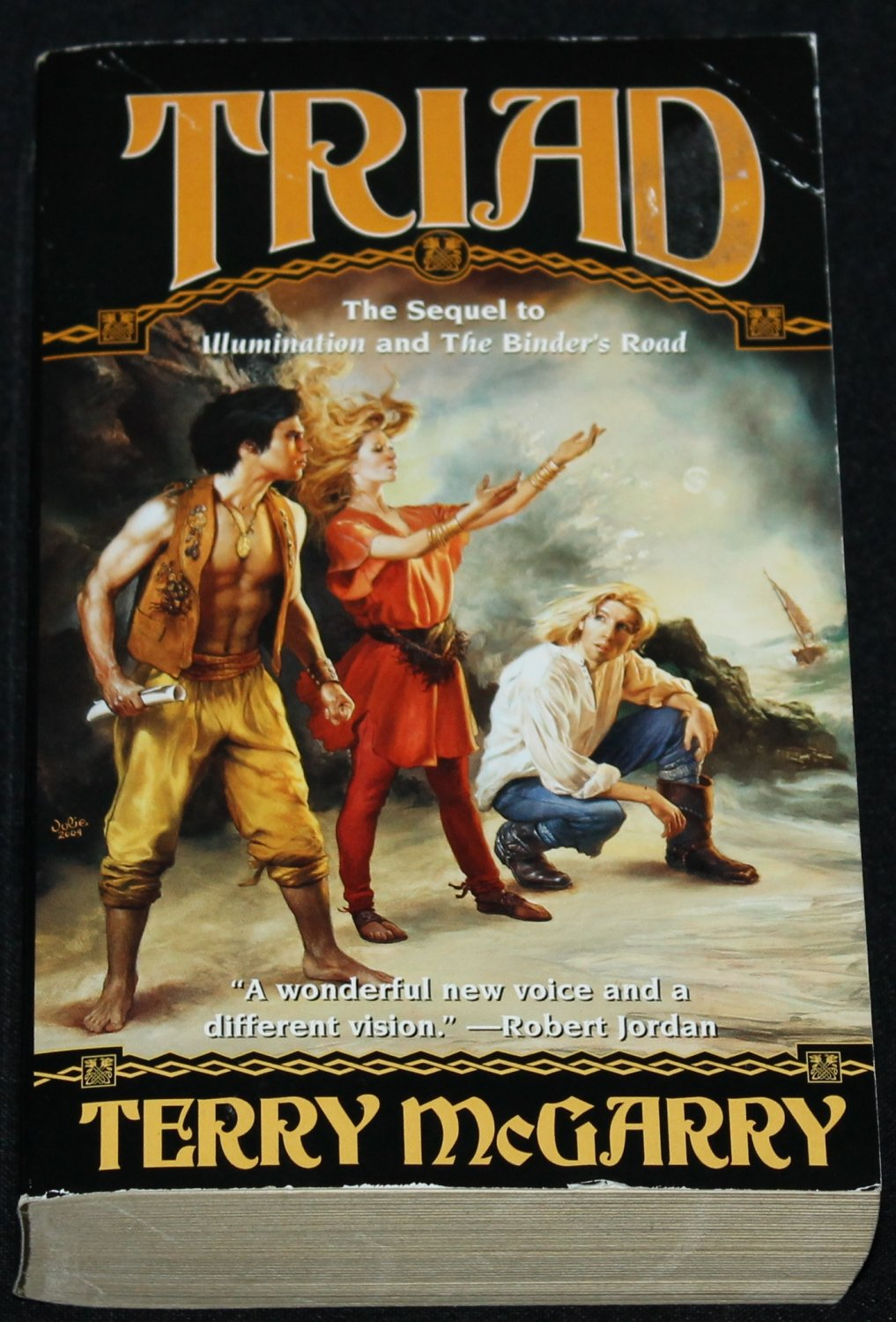 Triad by Terry McGarry fantasy adventure novel paperback book