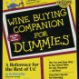 Wine Buying Companion For Dummies paperback book - wine instruction - how to buy purchase wine book