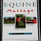 Equine Massage instruction book - horse care massage techniques instruction book horses massage
