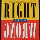 Right From Wrong - church Youth Christian morals morality religion religious Christianity help book