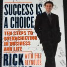 Success Is A Choice - hardcover book by Rick Patino self-help inspiration book
