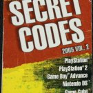 Secret Codes 2005 Vol. 2 psp includes playstation game cube XBOX codes book  Nintendo