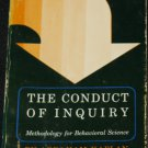 1964 The Conduct of Inquiry Methodology For Behavioral Science  methods book Abraham Kaplan