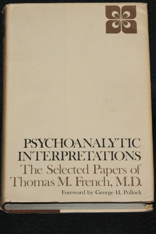 Psychoanalytic Interpretations psychology psychological thereapy book