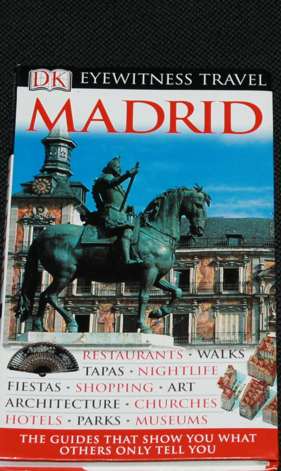 Madrid tour book - travel book capital of Spain - visitors traveling travel guide book