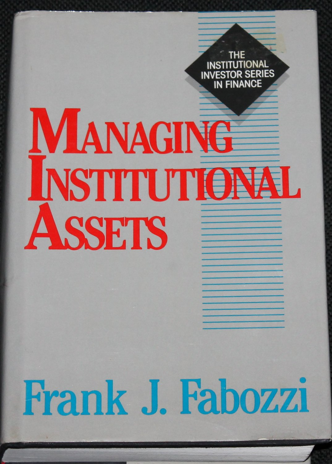 Managing Institutional Assets - business book by Frank J. Fabozzi hardcover