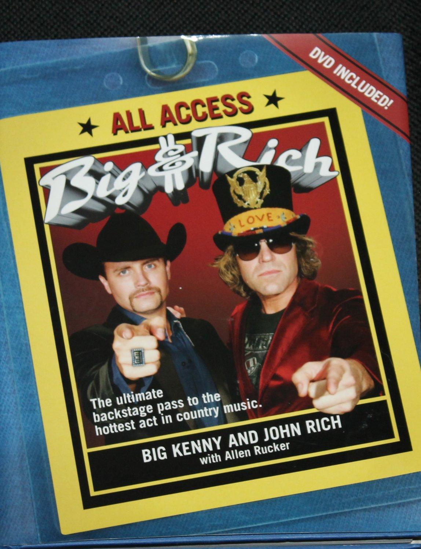 All Access country Big & Rich music stars book - backstage pass Big Kenny John Rich Allen Rucker