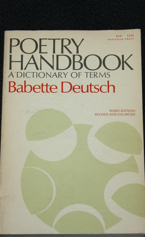 Poetry Handbook by Babette Deutsch paperback book