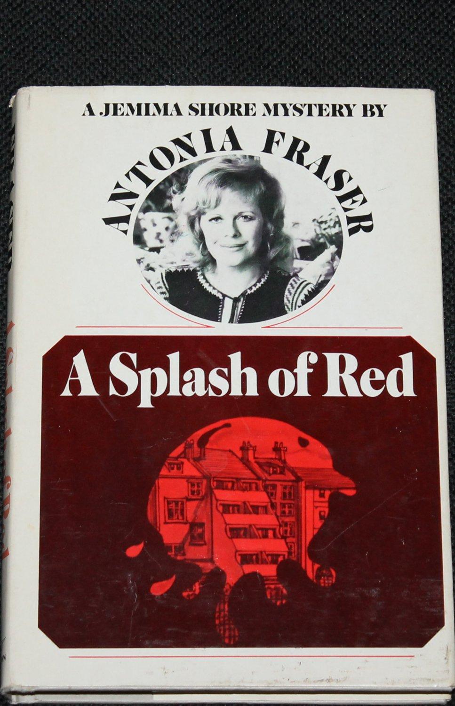 A Splash of Red mystery novel hardcover book by Antonia Fraser
