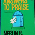 Answers to Praise Christian book Merlin R. Carothers spiritual God issues book religion Christianity