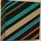 Home Business Decor Accent Painting - beige blue brown black - acrylic art stripes on canvas