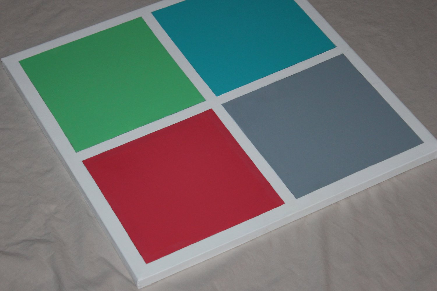 New minimalist art teal blue red green home interior decor decorative squares art acrylic painting