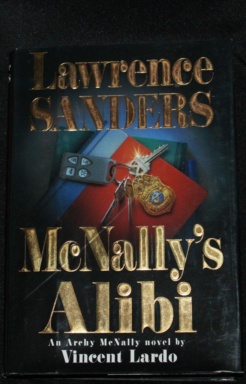 McNally's Alibi mystery suspense novel by Lawrence Sanders fiction hardcover book