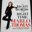 Marlo Thomas Right Words at the Right Time - Hollywood TV star celebrity famous actresss book