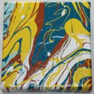 Home or Business Decor Art - marbled abstract painting home spa decorating yellow