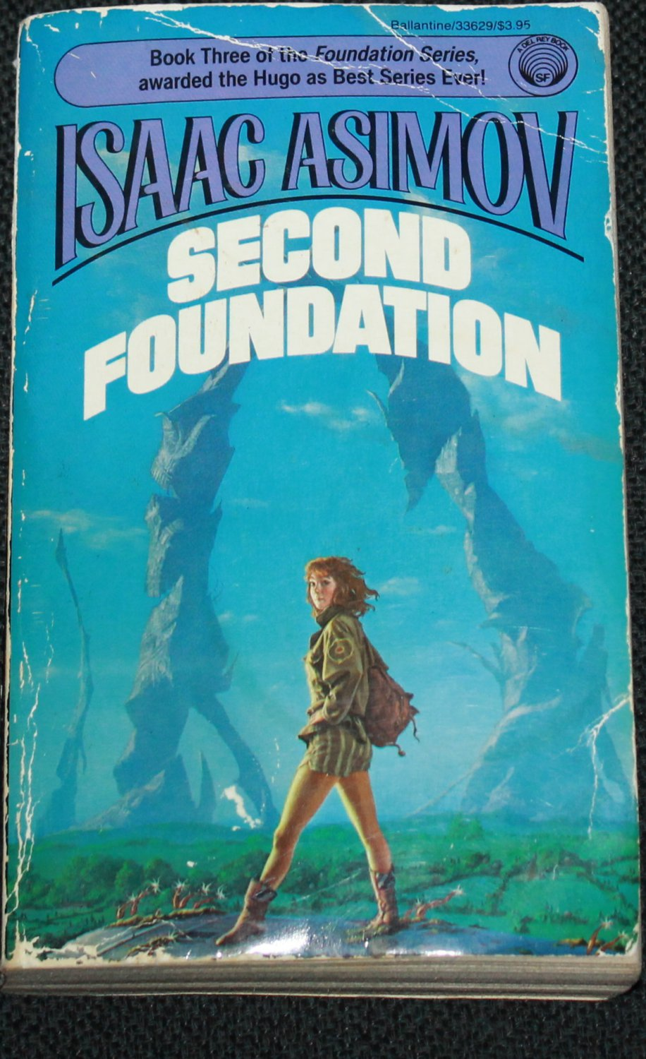 Second Foundation science fiction paperback book - galaxy sci-fi story