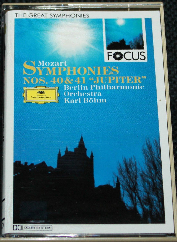 Mozart Symphonies NOS. 4 & 41 Jupiter - Berlin Philharmonic Orchestra - music cassette tape