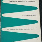 1952 Elements of the Theory of Functions Konrad Knopp