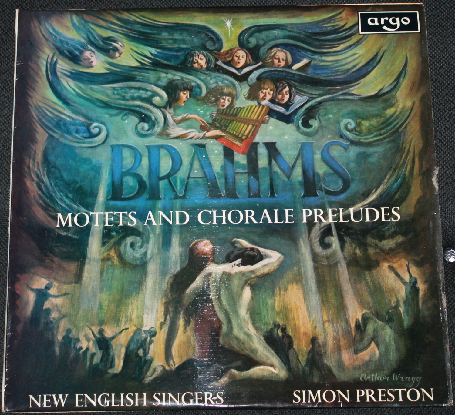 1968 Brahms Motets And Chorale Preludes - New English Singers - Simon Peterson director and organist