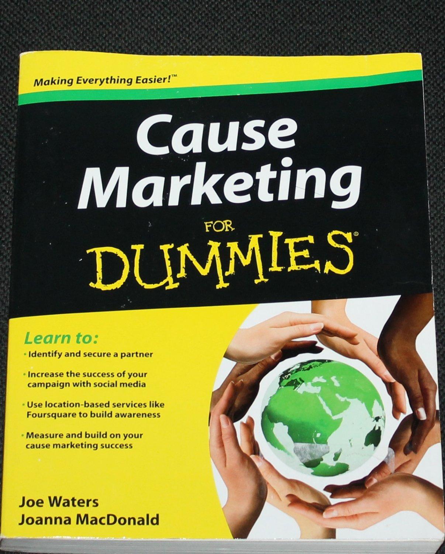 Cause Marketing For Dummies by Joe Waters & Joanna MacDonald