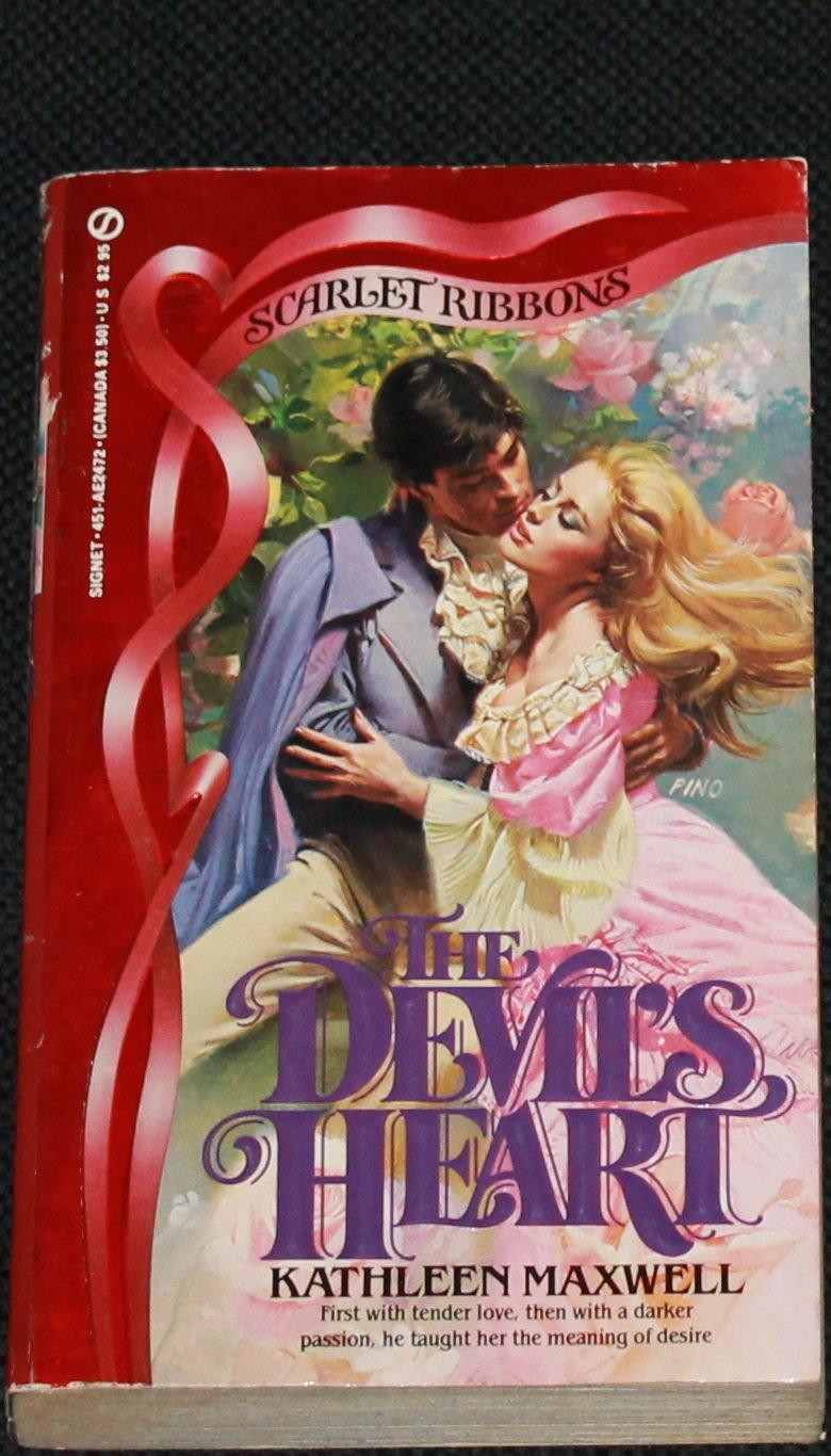 The Devil's Heart romance paperback novel by Kathleen Maxwell