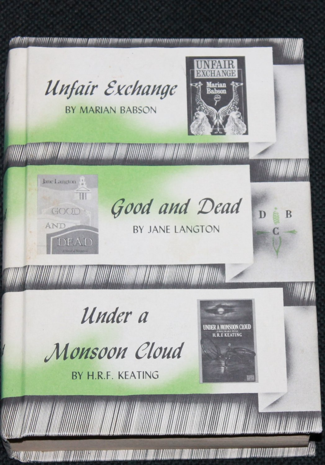 3 novels in 1 book Unfair Exchange Good and Dead Under a Monsoon Cloud