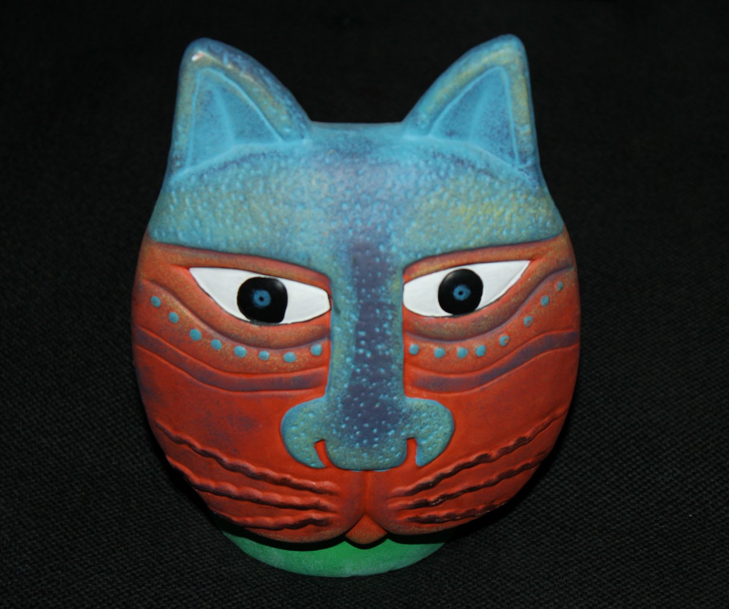 Kitty Vase - Ceramic Painted Cat for flowers, plants or home decor