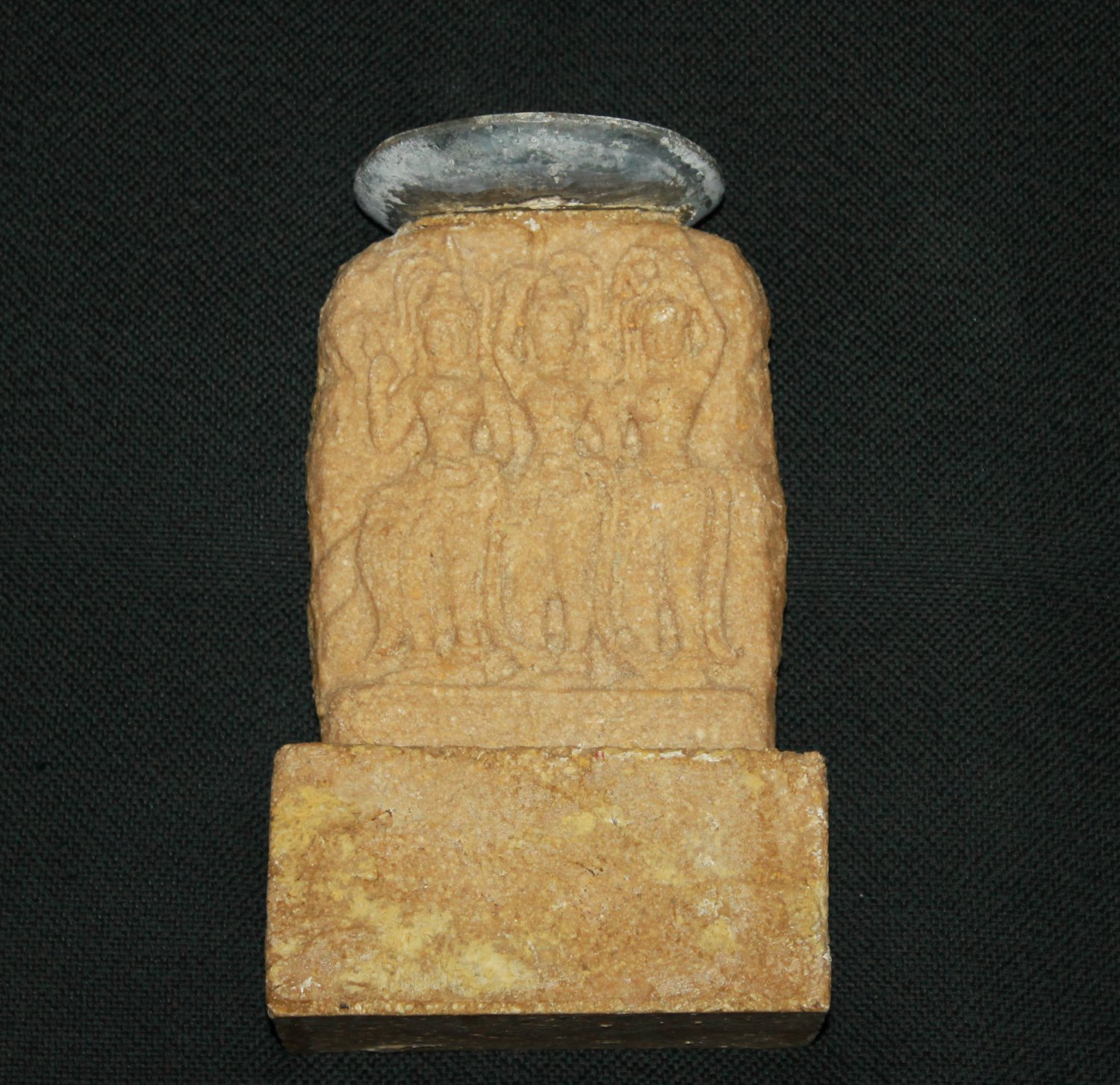Philipino Hand Carved Stone Candle Holder - hand made in the Philippines
