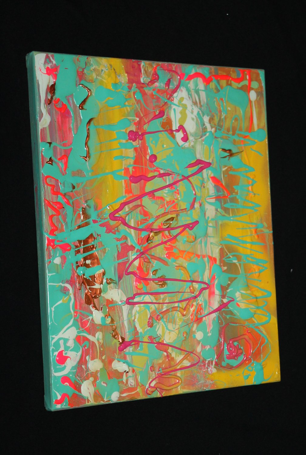 Abstract Art Painting - acrylic paint on canvas