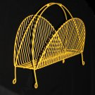 Magazine Rack - yellow home decor painted metal