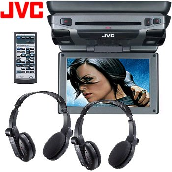 """JVC 9"""" Widescreen Monitor With DVD Player"""
