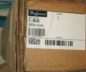 F66L48 Hoffman Wireway Section in Factory Carton