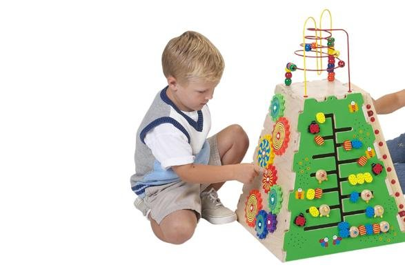 Pyramid of Play Five fun toys combined into one! Caterpillar Pathfinder, Marble Run, Ladybug