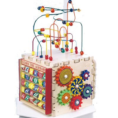 Anatex Deluxe Mini Play Cube Five fun toys include Rollercoaster Pathfinder