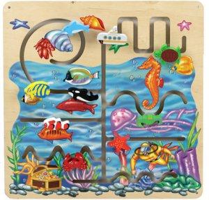 Anatex Sea Life Pathfinder Panel SA6005 decorative and fun 9 hand-painted wooden