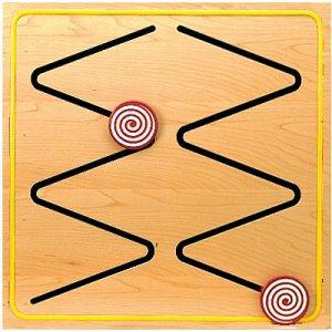 Zigidy Zag Wall Panel developing sensorimotor skills, visual tracking, and eye- hand coordination