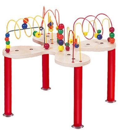Through fun play, the Mini Curves 'N' Waves Table challenges develops visual tracking skills