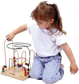 Mini Rollercoaster eye-hand coordination, shape color recognitions