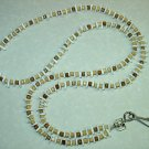 WOOD CUBES AND SHELL~BEADED LANYARD~ID BADGE HOLDER~LANYARDS