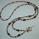 CHOCOLATE SWIRL KITTY CAT~BEADED LANYARD~ID BADGE HOLDER~LANYARDS