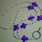 PURPLE AIRPLANES~BEADED LANYARD~ID BADGE HOLDER~LANYARDS