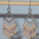 SWAROVSKI PEACH CHANDELIER EARRINGS