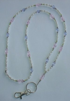 SPRING TIME~BEADED LANYARD~ID BADGE HOLDER~LANYARD~BREAK AWAY