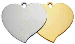 Nickle Plated  Pointed Heart