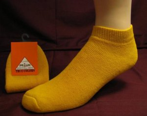 Mens Low Cut Ankle Sock Yellow Color Sport Gym Casual